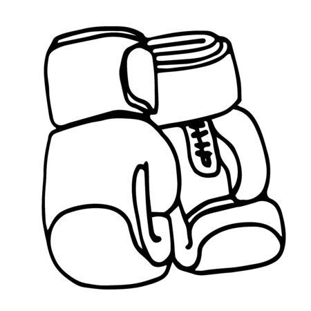 a pair of modern leather training Boxing gloves Stock Illustratie