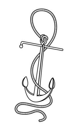 grapnel & rope, mooring elements for emblem