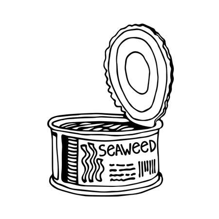 vector illustration with black ink contour lines isolated on a white background in a hand drawn & doodle style
