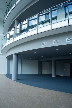blue business hall