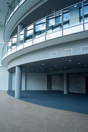 blue business hall