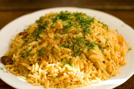 fried rice with meat