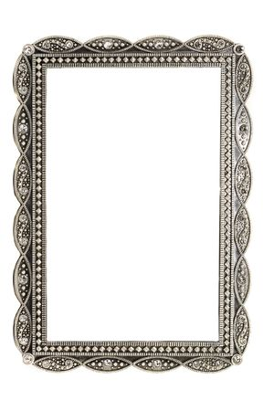 antique metal picture and photo frame with space for text Foto de archivo