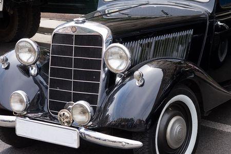 russian car: old russian car close-up