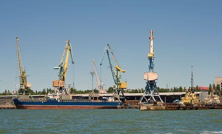 Cargo loading. Sea port Stock Photo - 5096253