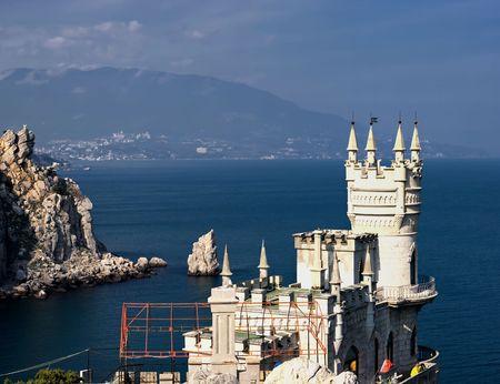 crimea: Swallows Nest castle. Crimea, Yalta, Ukraine