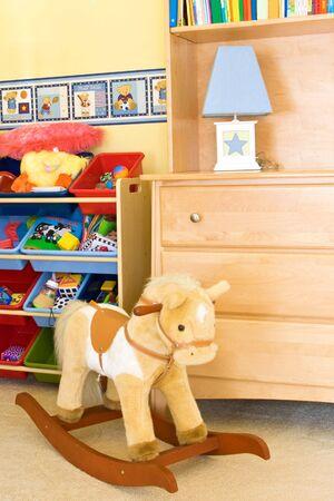 Baby speelkamer met speelgoed Stockfoto - 5544313