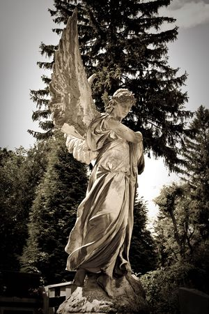weeping:  Statue of an angel