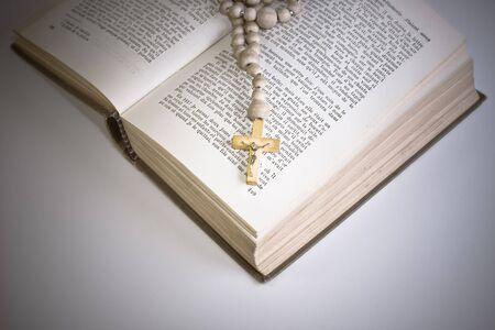 sermon: Bible with cross