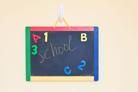 Chalk board with word Stock Photo - 7516963