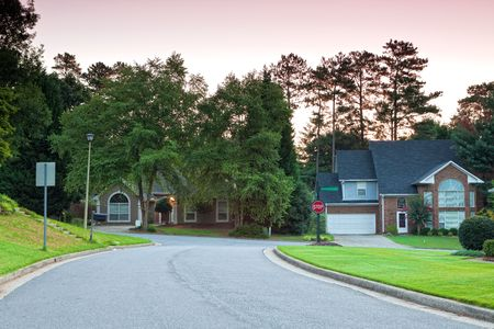 typical american neighbourhood with houses Stock Photo - 7835930