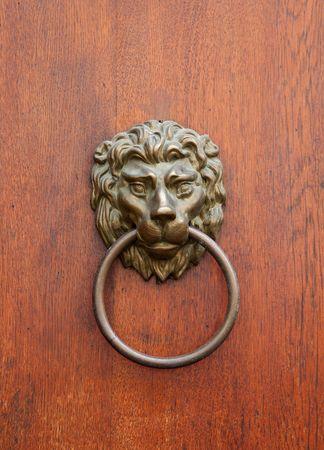rusty metal knocker photo
