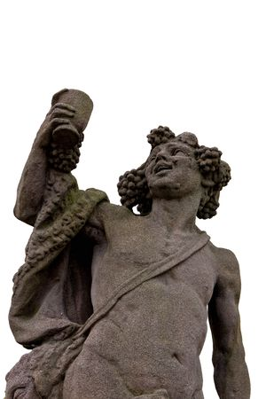 화이트 와인 Dionysus의 그리스 신의 동상 스톡 콘텐츠 - 8238109