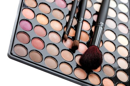 eyemakeup: Makeup.Professional multicolor set with brushes