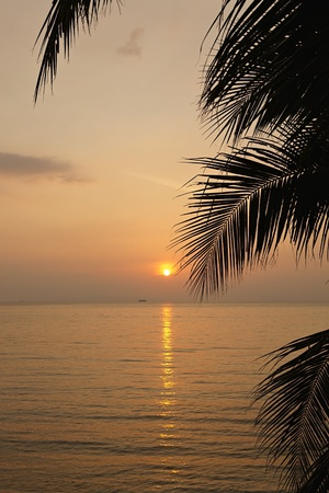 Ocean sunset. Koh Samui Island, Thailand