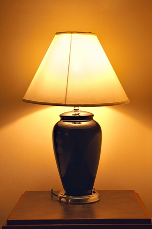 old style table lamp photo