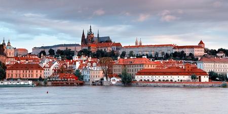 Panorama van oude Praag, Tsjechië Stockfoto - 10870989