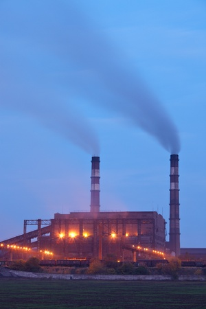 Industrial plant. Air pollution concept Stock Photo - 11234342