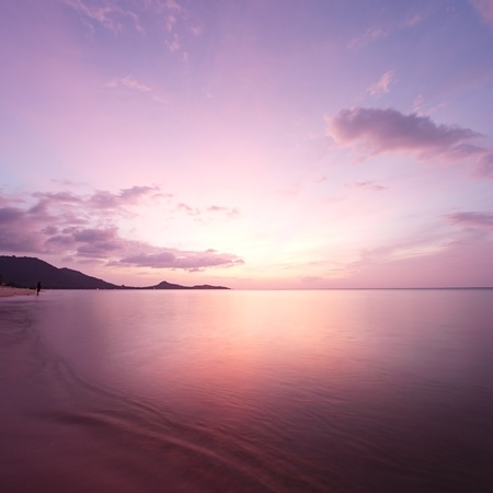 sunrise beach: Tropical beach sunrise. Koh Samui Island, Thailand