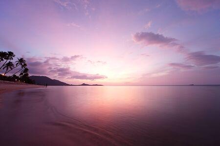 Tropical beach sunrise. Koh Samui Island, Thailand  photo