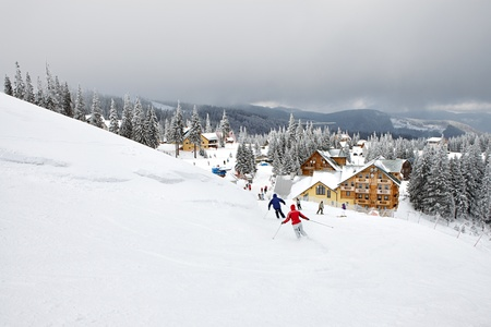 Winter skiing resort