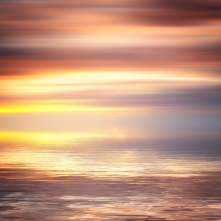 Beautiful colorful water and sky abstract background photo