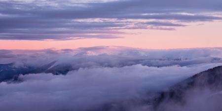 Winter berglandschap. Great Smoky Mountain National Park, Tennessee, USA