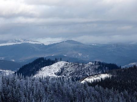 Winter mountain valley. Great Smoky Mountain National Park, Tennessee, USA Stockfoto