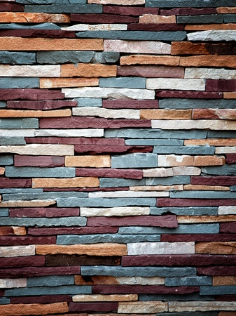 stone wall: Abstract background of colorful stone wall texture  Stock Photo