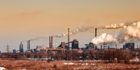 industrial landscape: Paesaggio industriale con ciminiera