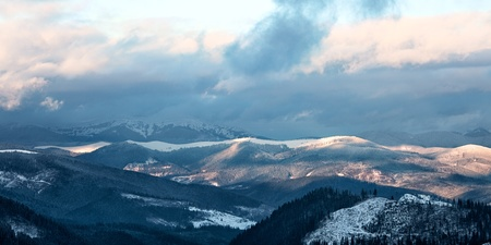 Great Smoky Mountain National Park in winter, Tennessee, USA  Stock Photo