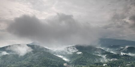 Fog and cloud mountain valley landscape. Great Smoky Mountain National Park, Tennessee, USA Stock Photo - 13621240