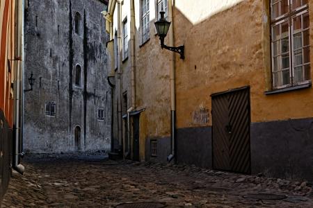 old european street photo
