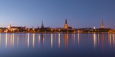 Panorama van oude Riga. Letland