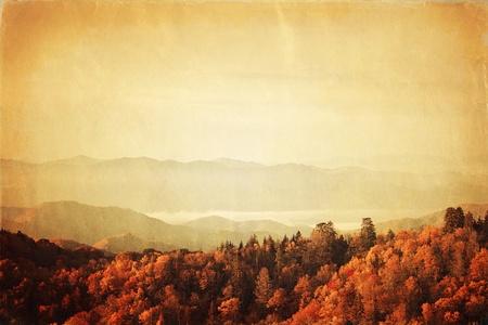 Retro-Stil Foto von Great Smoky Mountains National Park, Tennessee, USA Standard-Bild