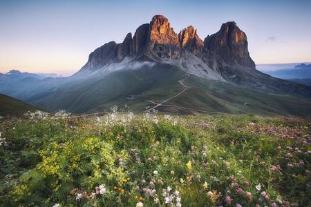 Dolomites mountain peaks, Italian Dolomites 스톡 콘텐츠