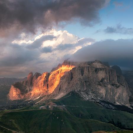 sella: Sella group mountain, Val di Fassa, Italian Dolomites Stock Photo