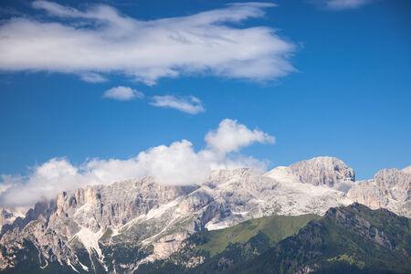 sella: Alpine rocky mountains landscape, Italian Dolomites Stock Photo