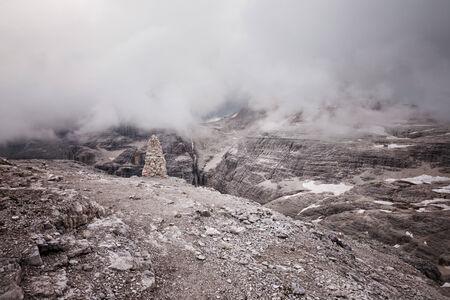 fassa: Mountains stormy weather, Val di Fassa, Italian Dolomites
