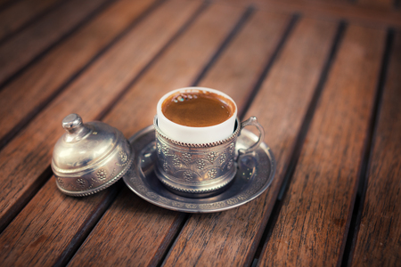 Traditional turkish coffee photo