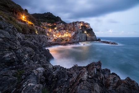 cinque: Manarola town, Cinque Terre, Italy