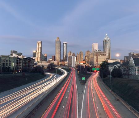 Skyline Atlanta, Georgia, Verenigde Staten Stockfoto
