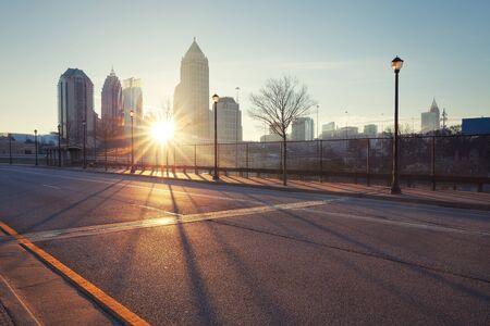 Atlanta straat, Georgia, Verenigde Staten