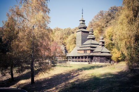 the old church: Old church in autumn forest