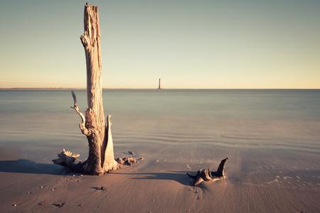 morris: Morris Island Lighthouse at sunrise, South Carolina, USA Archivio Fotografico