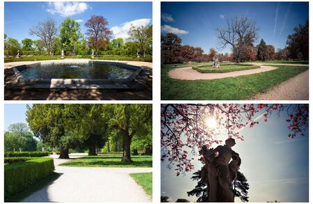 austerlitz: Set of park at sunny day