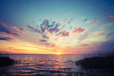 dramatic: Dramatic sunset Stock Photo