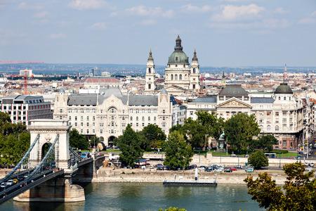 hungary: Budapest skyline. Hungary Stock Photo