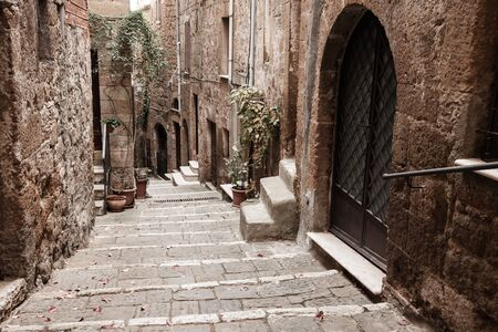 european: European medieval town street