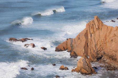 ocean waves: Atlantic ocean waves, Portugal Stock Photo